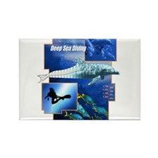 Deep Sea Diving Rectangle Magnet