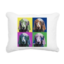 Weimaraner a la Warhol Rectangular Canvas Pillow