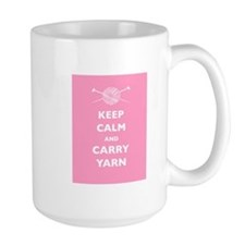 Keep Calm Carry Yarn Coffee Mug