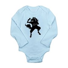Cool horse dance style Long Sleeve Infant Bodysuit
