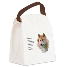 Shiba Inu Love Canvas Lunch Bag