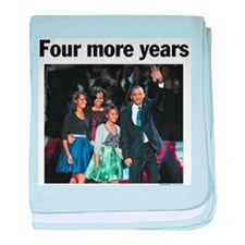 Four More Years: Obama 2012 baby blanket