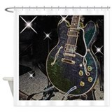 Semiglow Guitar Shower Curtain