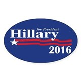 Hillary Clinton For President 2016 Decal