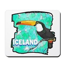 iceland puffin art illustration Mousepad