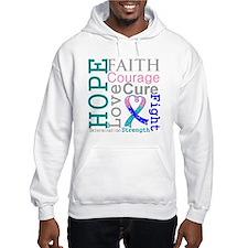 Thyroid Cancer Hope Courage Hoodie