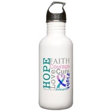 Thyroid Cancer Hope Courage Water Bottle