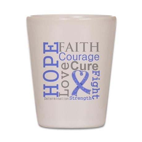 Stomach Cancer Hope Courage Shot Glass