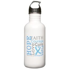 Prostate Cancer Hope Courage Water Bottle
