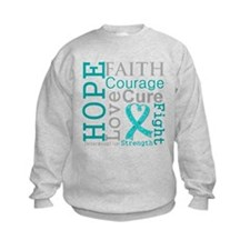 Ovarian Cancer Hope Courage Sweatshirt