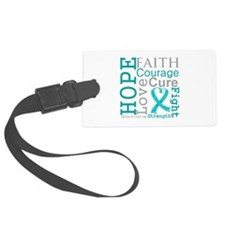 Ovarian Cancer Hope Courage Luggage Tag