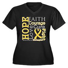 Neuroblastoma Hope Courage Women's Plus Size V-Nec