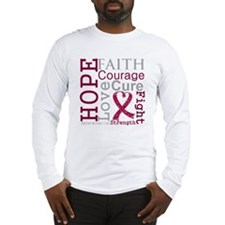 Multiple Myeloma Hope Courage Long Sleeve T-Shirt