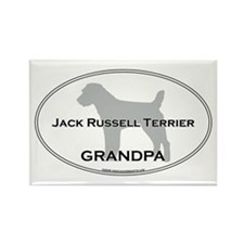 Jack Russell GRANDPA Rectangle Magnet