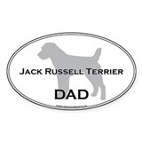 Jack Russell DAD Oval Decal