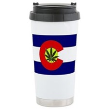 Colorado Marijuana Ceramic Travel Mug