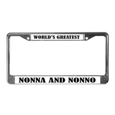 Nonna and Nonno License Plate Frame
