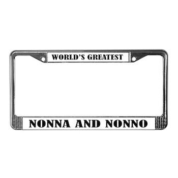 Nonna and Nonno License Plate Frame < World\'s Best Grandma Grandpa ...