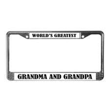 Grandma and Grandpa License Frame Gift