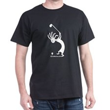 Kokopelli Golfer Black T-Shirt