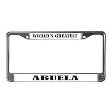 Abuela License Plate Frame
