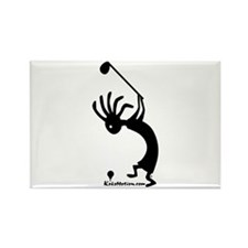 Kokopelli Golfer Rectangle Magnet (10 pack)