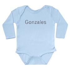 Gonzales Paper Clips Long Sleeve Infant Bodysuit