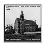 Old Baptist Church Tile Coaster
