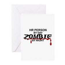 HR Person Zombie Greeting Cards (Pk of 20)