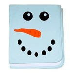 Snowman Face baby blanket