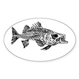 Stiped Bass Skeleton Decal