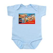 Long Beach California Greetings Infant Bodysuit