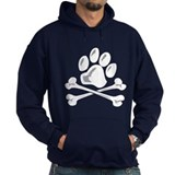 paw and crossbones Hoodie