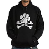 paw and crossbones Hoody