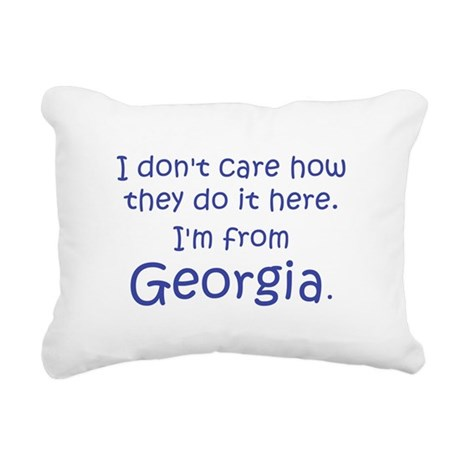 From Georgia Rectangular Canvas Pillow