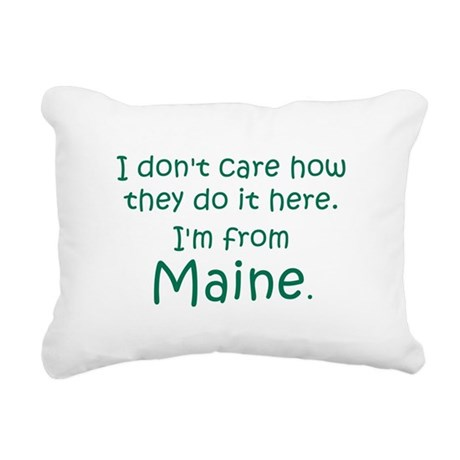From Maine Rectangular Canvas Pillow