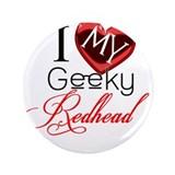 I Love my Geeky Redhead 3.5&quot; Button