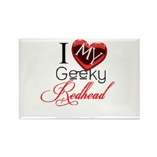 I Love my Geeky Redhead Rectangle Magnet