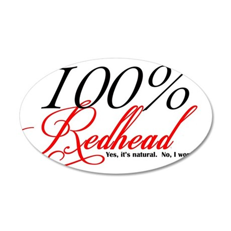 Natural Redhead 20x12 Oval Wall Decal