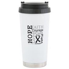 Melanoma Hope Courage Ceramic Travel Mug