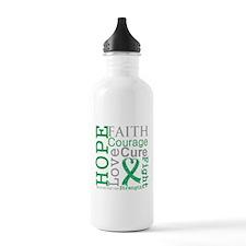 Liver Cancer Hope Courage Water Bottle