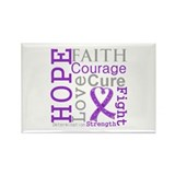GIST Cancer Hope Courage Rectangle Magnet (100 pac