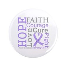 """General Cancer Hope Courage 3.5"""" Button"""