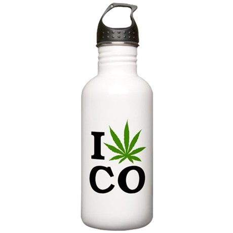 I Cannabis Colorado Stainless Water Bottle 1.0L