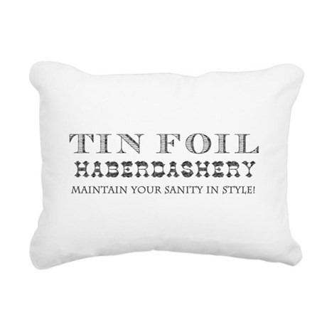 Tin Foil Haberdashery Rectangular Canvas Pillow
