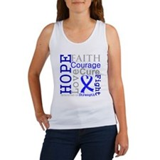 Colon Cancer Hope Courage Women's Tank Top