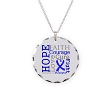 Colon Cancer Hope Courage Necklace
