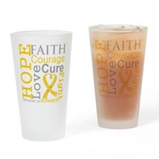 Childhood Cancer Hope Drinking Glass