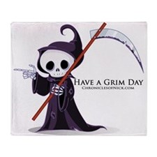 Have a Grim Day Throw Blanket