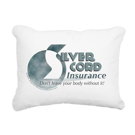 SIlver Cord Insurance Rectangular Canvas Pillow